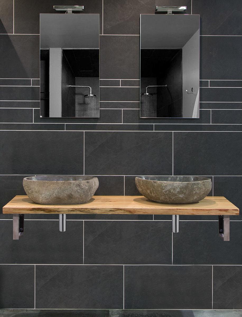 Moetz badkamermeubel houten wastafel waskomen megadump - Badkamermeubels steen ...